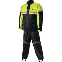 Nelson-Rigg 67-660-92 2 Piece Black/Hi-Vis Rainsuit Size S