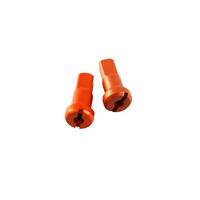 States MX 70-1208-30E Alloy Rear 8 Guage Nipples Orange