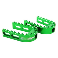 States MX 70-ADF-01V Replacement Outer Adjustable Footpegs Green