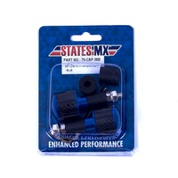 States MX 70-CAP-36B Universal Bar Ends Blue w/Carbon Inlay