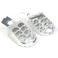 La Corsa Footpegs - Silver - Husqvarna All From 08-2012 For Motocross Use