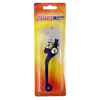 States MX 70-FFB-902B Fold & Flex Brake Lever Blue for Yamaha/Suzuki/Kawasaki