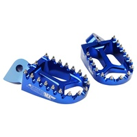 States MX 70-FP1-511B Alloy Off-Road Footpegs for Yamaha Blue