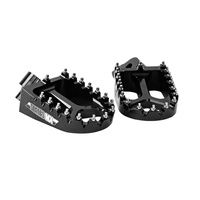 States MX 70-FP1-511K Alloy S2 Off Road Footpegs Black for all Yamaha 85-450 99-17/Gas Gas 00-12