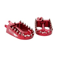States MX 70-FP1-511R Alloy S2 Off Road Footpegs Red for all Yamaha 85-450 99-17/Gas Gas 00-12