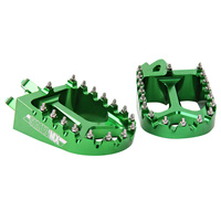 States MX 70-FP3-515V Alloy Off-Road Footpegs for Kawasaki Green