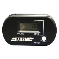 States MX 70-HM1-02K Universal Hour Meter Resettable Black