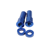 States MX 70-RLN-B Rim Lock Nut Kit Blue