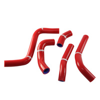 States MX Silicone Hose Set - Red - Suzuki For Motocross Use