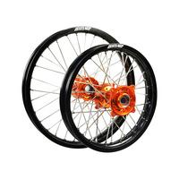 "States MX 70-WST-07 Wheel Set (Front 12""/Rear 10"") Black/Orange for KTM 50SX"