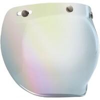 Bell 7018133 3 Snap Bubble Visor (Silver Iridium) for Custom 500 Helmets