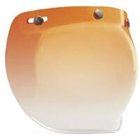 Bell 7018135 3 Snap Bubble Visor (Amber Gradient) for Custom 500 Helmets
