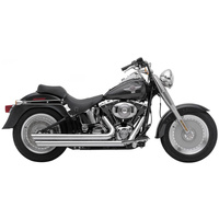 "Rush 7020SL-175 Cross Over Exhaust System Chrome Slash Down w/1.75"" Baffle w/Oxygen Sensor for Softail 17"