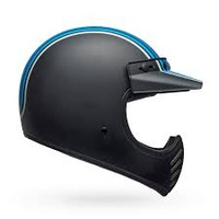 Bell Moto-3 Helmet Stripes Silver/Black/Blue