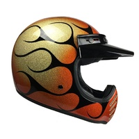 Bell Moto-3 Helmet Chemical Candy Flame Orange/Black