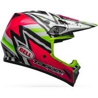 Bell MX-9 MIPS Helmet Tagger Designs Asymmetric Pink/Green/Black