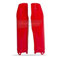 Polisport 75-835-17R4 Fork Guard Protectors Red for Honda CR125/250 04-07/CRF250R/450R 04-17 (SS 75-839-40R4)