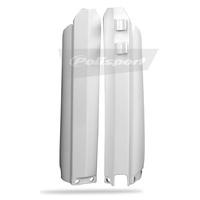 Polisport 75-839-20W Fork Guard Protectors White for Yamaha YZ/YZF/WRF