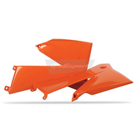 Polisport 75-841-15O Radiator Shrouds Orange for KTM SX/SX-F 05-06/EXC 05-07