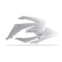 Polisport 75-841-27W Radiator Shrouds White for Honda CRF250R 10-13/CRF450R 09-12