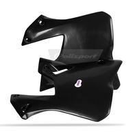 Polisport 75-841-40K Radiator Shrouds Black for Yamaha YZ125/250 96-01