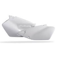 Polisport 75-841-50W Side Covers White for Yamaha YZ125/250 96-01