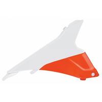 Polisport 75-845-51WO Air Box Cover White/Orange for KTM SX/SX-F/XC/XC-F 13-15