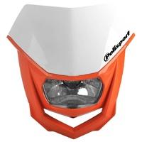 Polisport 75-865-74WO Halo Headlight White/Orange