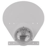 Polisport 75-866-75W Preston Petty Halogen Headlight Number Plate White