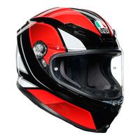 AGV K6 Helmet Hyphen Black/Red/White