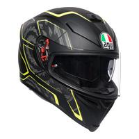 AGV K-5 S Helmet Tornado Matte Black/Fluro Yellow