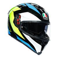 AGV K5-S Helmet Core Black/Cyan/Fluro Yellow