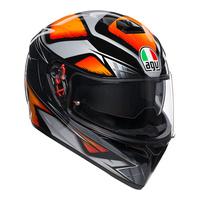 AGV K-3 SV Helmet Liquefy Black/Orange