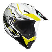 AGV AX-8 Dual EVO Helmet Earth White/Black/Fluro Yellow