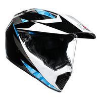 AGV AX9 Helmet North Black/White/Cyan