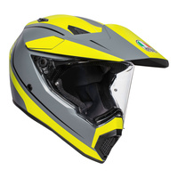 AGV AX9 Helmet Pacific Road Multi Helmet Matte Grey/Fluro Yellow/Black