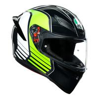 AGV K1 Helmet Power Gunmetal/White/Green