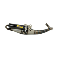 Arrow 33503EK Extreme Carby Scooter Exhaust System w/Carbon Fibre Muffler for Yamaha Aerox 50cc 95-11/MBK Nitro 50 97-06