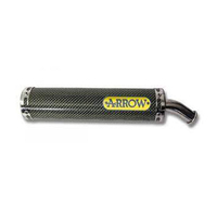 Arrow 51513SU Street 2T Carbon Fibre Round Sil Slip-On Muffler for Aprilia RS 125 Replica 95-14/Tuono 125 2004