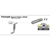 Arrow 71325MI 1-2 Link Pipe for Original Collectors for Triumph Speed Triple 1050i 05-06