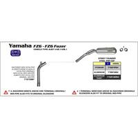Arrow 71681PO Street Thunder Titanium Slip-On Muffler w/Steel End Cap for Yamaha F 6/FZ6 F 04-06/F 6 S2/FZ6 Z Fazer S2 07-11