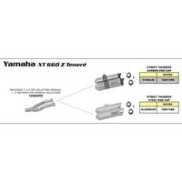 Arrow 72084PD Link Pipes for Original Collectors for Yamaha XT 660 Z Tenéré 08-16
