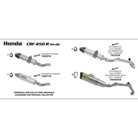 Arrow 75070TK MX Competition Titanium Exhaust System w/Thunder Muffler/Carbon End Cap for Honda CRF 450 R 09-10