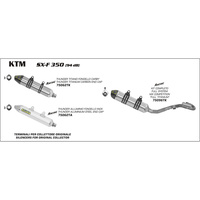 Arrow 75096TK MX Competition Titanium Exhaust System w/Race-Tech Muffler/Carbon End Cap for KTM 350 SX-F 11-12