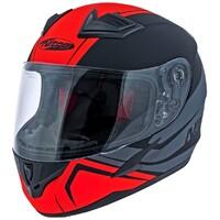 Nitro N2300 Junior Helmet Rogue Satin Black/Gunmetal/Safety Red