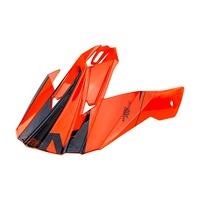 Nitro Replacement Peak for MX620 Helmet Podium Black/Orange