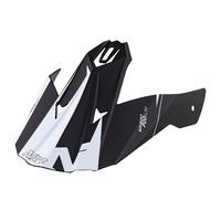 Nitro Replacement Peak for MX620 Junior Helmet Podium Satin Black/White