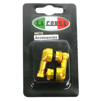 La Corsa 93-T42-01G Tubeless Valve Stem Gold 8.3mm (Pair)