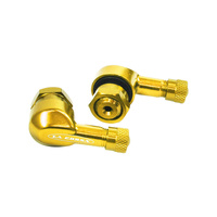 La Corsa 93-T42-0G Tubeless Valve Stem Gold 11.3mm (Pair)