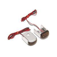 Alloy Art AA-DSL-2 Turn Signal Strut Light Kit Chrome w/Smoke Lens & Flashes Amber/Red for Dyna 91-05